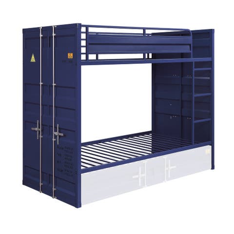 ACME Cargo Twin over Twin Bunk Bed in Blue