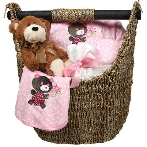 Raindrops Baby Girls Welcome Home 9-Piece Gift Set, Pink, 3-6M - One Size