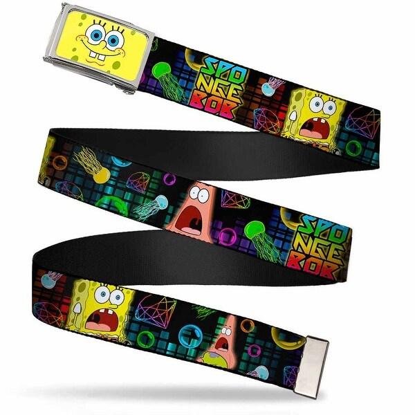 SpongeBob Face Close Up Fcg Chrome Surprised SpongeBob & Patrick Web Belt