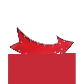 Privilege 88359 24.5 x 2.5 x 11 in. Curved Arrow LED Metal Sign Board