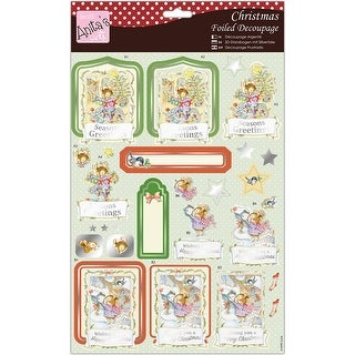 Merry Mouse - Anita's A4 Foiled Decoupage Sheet