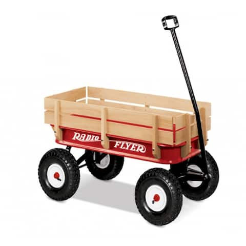 Radio Flyer 32 All-Terrain Steel & Wood Kids Toy Wagon, For 1-1/2 Years or More