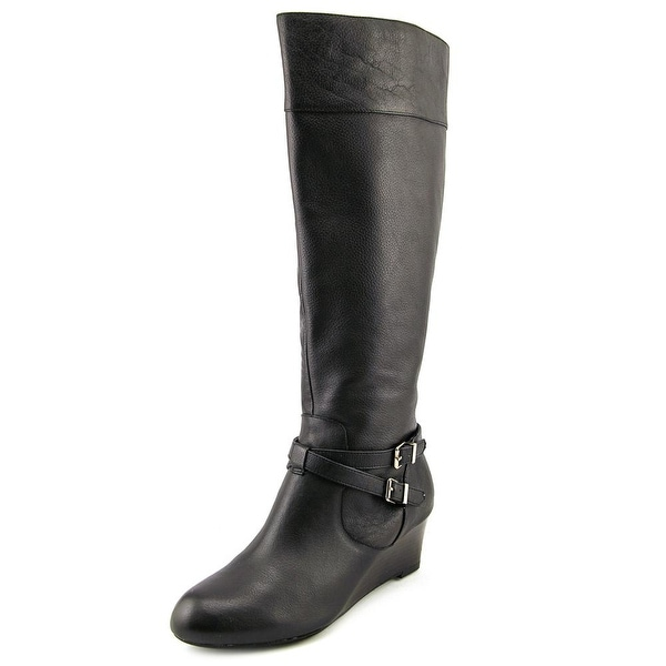 Giani Bernini Kalie Round Toe Leather Knee High Boot