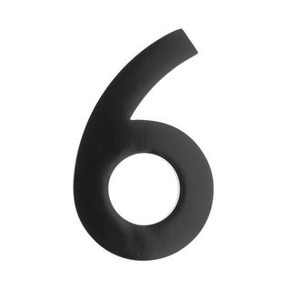 Architectural Mailboxes 3585-6 5 Inch Solid Cast Hand Finished Brass House Numbers - N/A