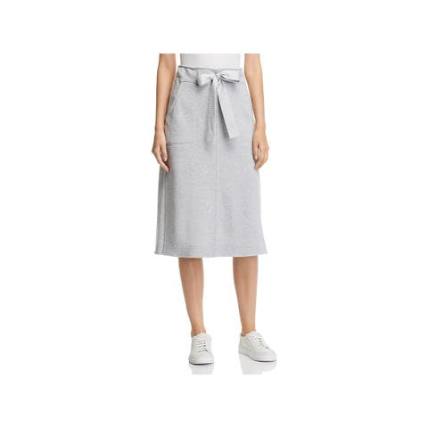 Donna Karan Womens Winter Garden Pencil Skirt Heathered Midi