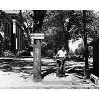 ''Segregated Water Fountain, Halifax, North Carolina, 1938'' by McMahan Photo Archive African American Art Print (8 x 10 in.)