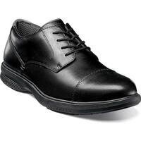 Nunn Bush Men's Melvin St. Cap Toe Derby Shoe Black Leather