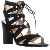 XOXO Balta Strappy Lace-Up Sandals, Black