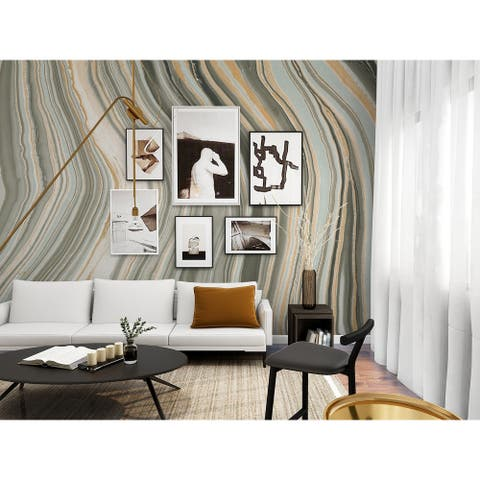 NextWall Botswana Marbled Agate Peel and Stick Wall Mural
