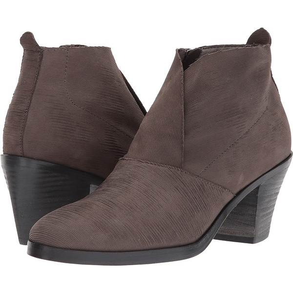 Eileen Fisher Womens Murphy-IN NuBuck Almond Toe Ankle Fashion Boots