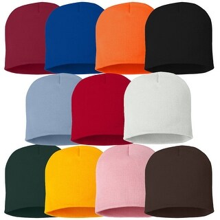 Knitted Beanie Cap Winter Hats for Men & Women Warm Hat Solid Color Beanie 6 Color Set