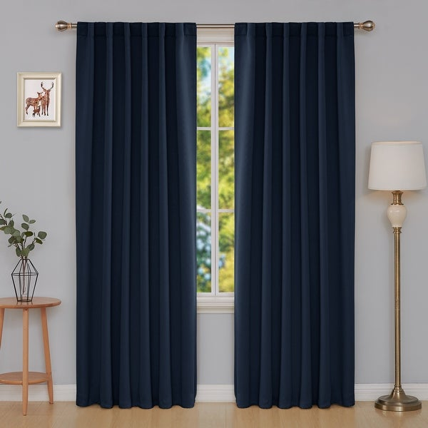 Deconovo Blackout Back Tab 42 Width Curtains Panel Pair. Opens flyout.