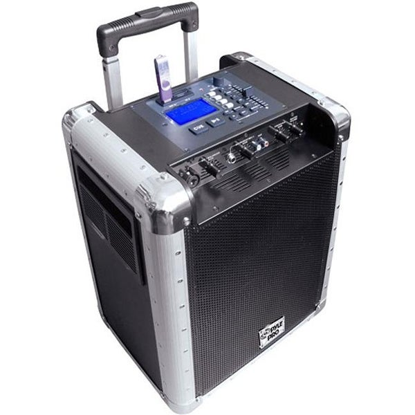 Battery Powered Portable PA System With USB-SD DJ Controls And