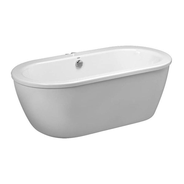 American Standard 2764 014 Cadet 66 Acrylic Soaking Bathtub For Free Standing Installations With Center Drain