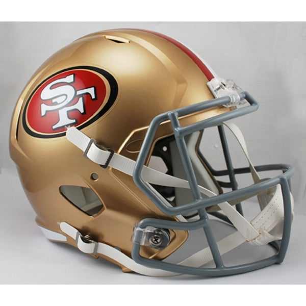 120b81fcb72 Shop San Francisco 49ers Deluxe Replica Speed Helmet - Free Shipping Today  - Overstock - 22204001