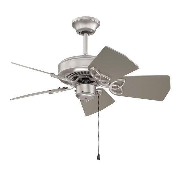 """Craftmade K10149 Piccolo 30"""" 5 Blade Indoor / Outdoor Ceiling Fan with Blades Included - Brushed Satin Nickel"""