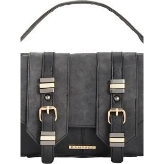Rampage Womens Crossbody Handbag Contrast Trim Satchel - small