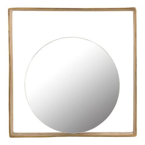 Aurelle Home Modern Abstract Geometric Mirror