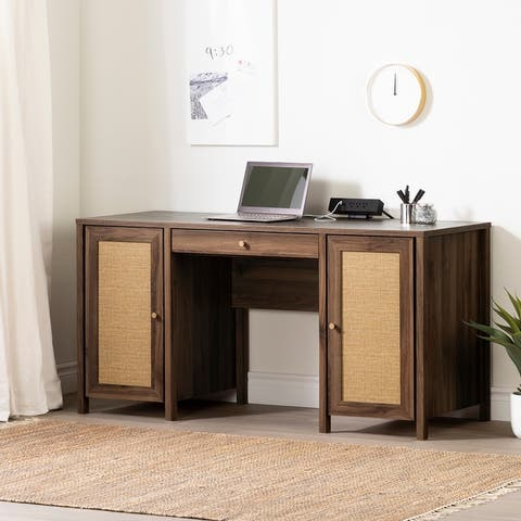 South Shore Talie Computer Office Desk with Doors