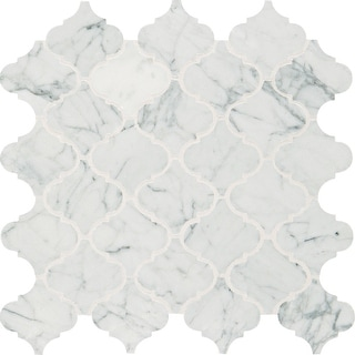 "Daltile MBAROQUEMSL  Marble Collection - 3"" x 3"" Baroque Mosaic Wall & Floor Tile - Polished Marble Visual"