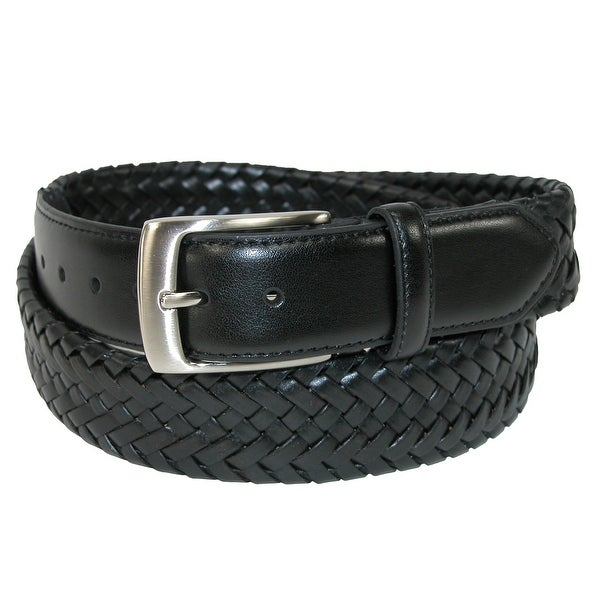 Danbury Men's Comfort Stretch Leather Braided Belt