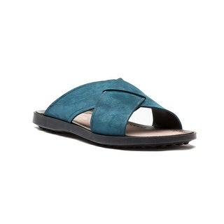 Tod's Men's Suede Ciabatta Sottopiede Cuoio Fondo Nu Sandal Shoes Dark Teal (2 options available)