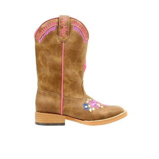 Blazin Roxx Western Boots Girls Kids Sashay Youth Brown