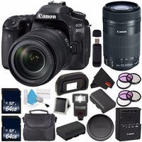 Canon EOS 80D DSLR Camera with 18-135mm Lens 1263C006 Bundle
