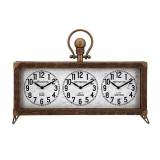 16 Westville Antique Paris, London and New York Table Top Clock