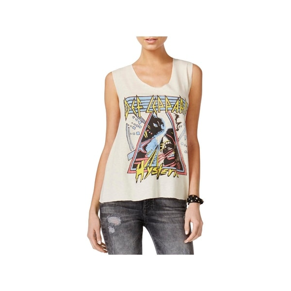 Junk Food Womens Muscle Tank Def Leppard Graphic