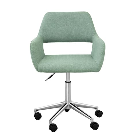 Versanora Modern Fabric Swivel Adjustable Home Office Task Arm Chair with Open Back Support, Mint