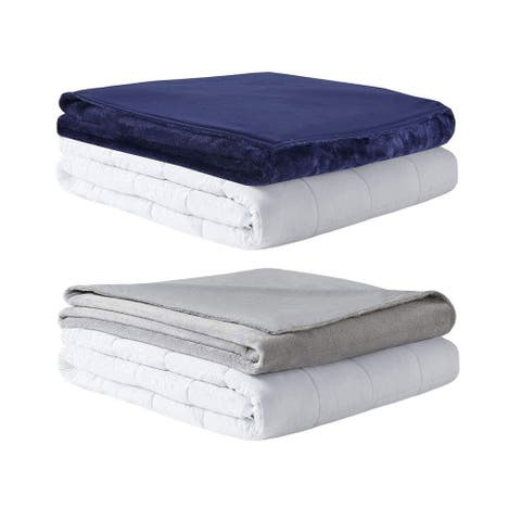 MP2 Glacier Weighted Blanket with Nano-Ceramic Beads Reversible Coolin