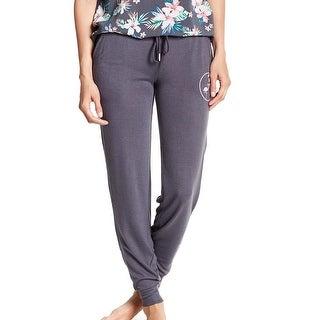 PJ Salvage NEW Gray Women's Size Large L Flamingo Jogger Lounge Pants