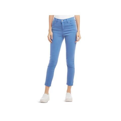 Karen Kane Womens Zuma Colored Skinny Jeans Denim High Rise - Blue