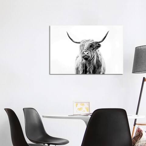 iCanvas 'Portrait Of A Highland Cow' Canvas Print by Dorit Fuhg