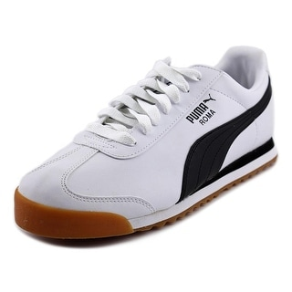 Puma Roma Basic Men Round Toe Canvas White Running Shoe