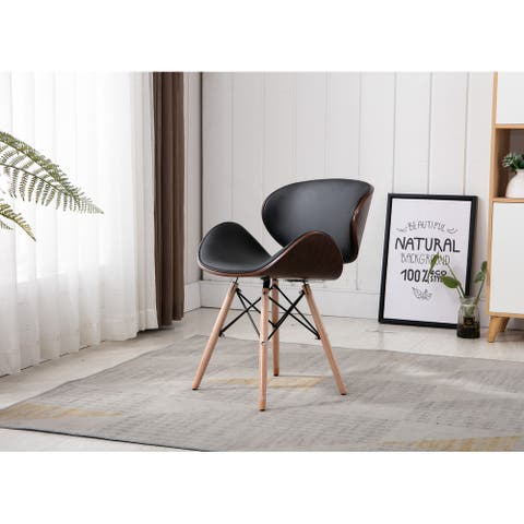 Home Beyond Black Synthetic Leather Leisure Arm Chair