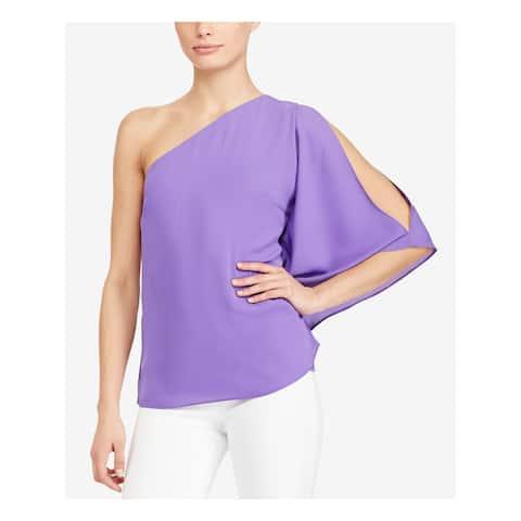 Ralph Lauren Womens Purple Bell Sleeve Top Size XS