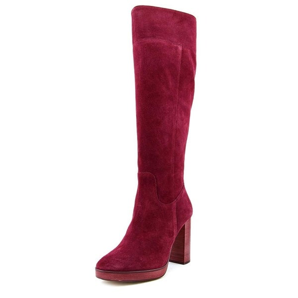 Michael Michael Kors Regina Platform Boot Round Toe Suede Knee High Boot
