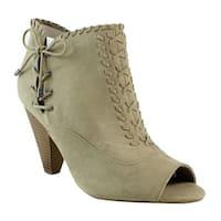 Indigo Rd. Womens Brown Open Toe Heels Size 9.5