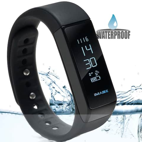 Waterproof Bluetooth Fitness Tracker Bracelet Smart Wrist Watch Band for iphone Android w/ Touch Screen - SIZE