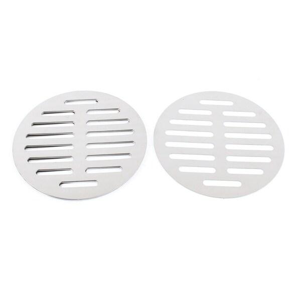 "Unique Bargains Stainless Steel Kitchen Bathroom Round Floor Drain Cover 5"" 12.5cm 5pcs"