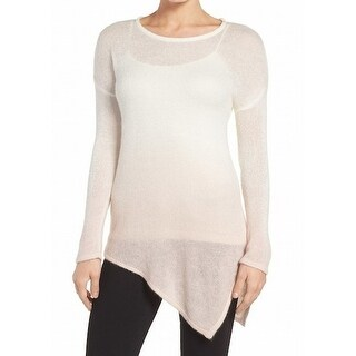 Two by Vince Camuto NEW Pink Womens Size XS Asymmetrical Hem Sweater