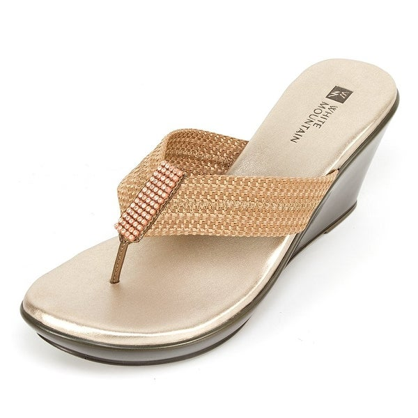White Mountain Womens Ray Split Toe Casual T-Strap Sandals