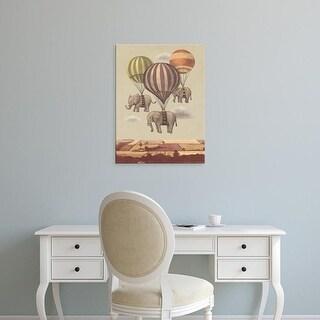 Easy Art Prints Terry Fan's 'Flight Of The Elephants' Premium Canvas Art