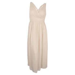 Adrianna Papell Women's Chiffon Draped Sleeveless Gown