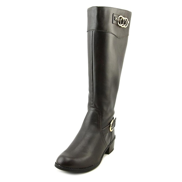 Karen Scott Donnelly Wide Calf Women Round Toe Synthetic Brown Knee High Boot