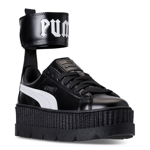 d0e9810936845 Puma Women  x27 s Fenty x Rihanna Ankle Strap Creeper Sneakers Puma Black