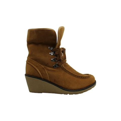 Khombu Women's Shoes Sasha Suede Almond Toe Mid-Calf Cold Weather Boots