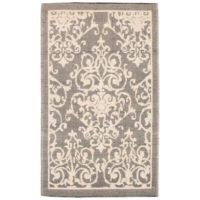 ECARPETGALLERY Braid weave Sienna Ivory Wool Rug - 4'11 x 8'0